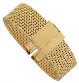 Minott Milanaise | Uhrenarmband Edelstahl Band gelbgoldfarben mit verstellbarem Verschluss 30674