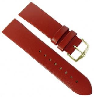 HIRSCH | Uhrenarmband > Leder, rot ohne Naht > Dornschließe | Standard-Länge | 36508