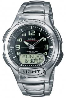 Casio Collection Herrenuhr ana-digi Edelstahl-Resin AQ-180WD-1BVES