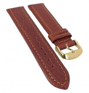 Minott XL Ersatzband Lederband mit Naht - strukturiertes Rindleder braun 29941