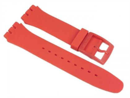 Swatch Orangy Pink Rebel Uhrenarmband Silikon Band Orange 19mm für New Gent SUOO701