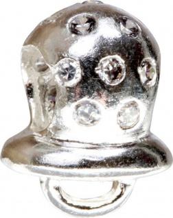 Charlot Borgen Marken Damen Bead Beads Drops Silber mit Zirkonia SCZ-31-Weiß