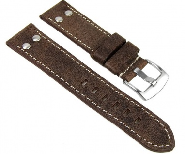 Minott Uhrenarmband Vintage Look Leder Band 22mm