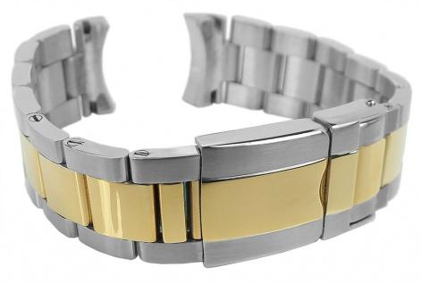 Minott Edelstahlband 20mm   bicolor u.a. passend für RLX Submariner   Massiv mit Faltschließe 34181 - Vorschau 3