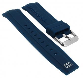 Tommy Hilfiger Uhrenarmband 679302062 Silikon Band blau 1791349