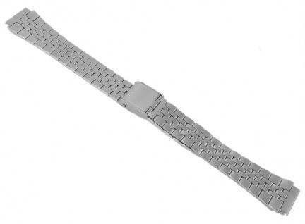Casio Armband Uhrenarmband 14mm Edelstahl Band Silberfarben für Collection LA680WEA
