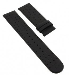 Junghans Mega 22mm | Ersatzband aus Leder in schwarz mit Lochmuster 012/1807