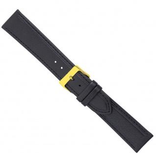 Uhrenarmband Ersatzband Leder Band Schwarz 26581G