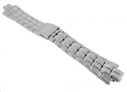 Uhrenarmband Edelstahl Band silbern passend zu Festina F16666/alle
