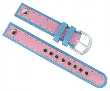 Adora Youngline AY4302 Kinder Ersatzband 14mm Materialmix blau / rosa Band