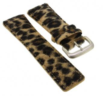 Bruno Banani Magic ? Ersatzband 25mm aus Leder mehrfarbig Leopardenmuster ? CD1193 CD1194