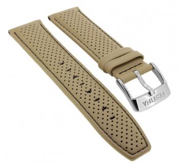 Festina Chronograph Ersatzband 23mm aus Leder in beige mit Lochmuster F20339 F20339/1