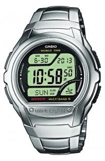 Casio Wave Ceptor Funkuhr digital silbern Herren WV-58DE-1AVEF