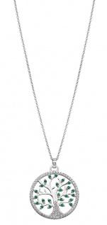Lotus Silver Halsschmuck Collier Kette mit Lebensbaum Anhänger Silber LP1895-1/1