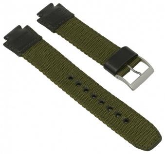 Uhrenarmband für Casio IllumiOutdoorr AQ-180 Textil/Leder Mix grün