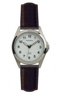 Damen Adora Armbanduhr | Lederband, braun | Titangehäuse & Dornschließe | 5 bar > 37844