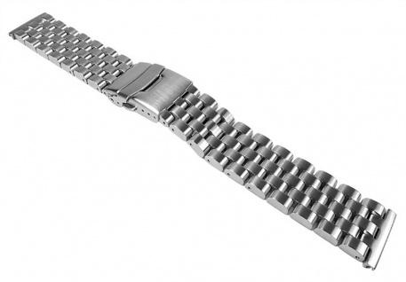 Uhrenarmband massives Edelstahl Band für Luxusuhren 22mm Minott 24029