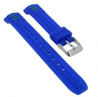 Calypso Ersatzband aus Silikon in blau mit Schließe silberfarben Spezial Anstoß K5757/4