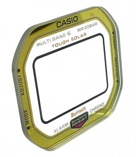 Casio G-Shock Mineral Ersatzglas mit Aufdruck gelbgoldfarben GW-B5600BC-1