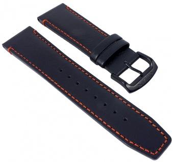 Citizen Funk Uhrenarmband Leder 22mm schwarz mit Kontrastnaht für AT8125-05E