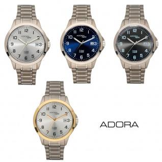 Adora Saphir Herrenuhr Quarz Analog Armbanduhr Titan mit Datumsanzeige 29025
