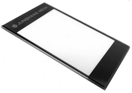 Junghans Mega 1000 Saphirglas bedruckt schwarz 026/4800 026/2801 026/4512 026/4511