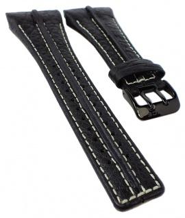 Police Serie P-Matrix | Ersatzband 32mm Leder schwarz Dornschließe 10812JSB/02B