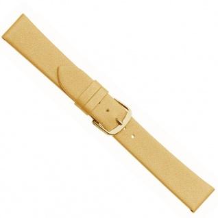 Design I Uhrenarmband Kalbsleder Beige/Gold 20495G