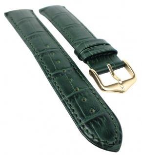 HIRSCH DUKE L | Uhrenarmband italienisches Leder / Alligatorprägung / Grün 31022