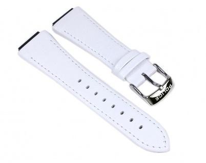 Police Uhrenarmband Leder Band Weiß für Damen Uhr Sphere X P.12778LB1 P12778