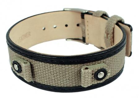 s.Oliver Ersatzband 8mm Leder/ Textil bicolor Unterlageband SO-1625-LQ