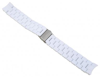 Timex Ersatzband Uhrenarmband Kunststoff-Band weiß 20mm für T2P004 T2N868 T2N865