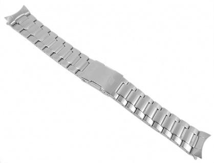 Casio Armband Uhrenarmband Edelstahl Band Silberfarben für Edifice EQW-M1000