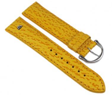 Maurice Lacroix Marken Uhrenarmband Kalbsleder mit Hai-Optik Gelb 20mm 293762035S-TiT - Vorschau