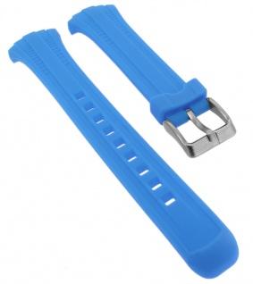 Calypso Ersatzband aus Silikon in blau mit Schließe silberfarben Spezial Anstoß K5744/5
