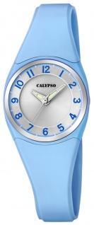 Calypso Damenarmbanduhr Quarz Kunststoff hellblau analog K5726/3
