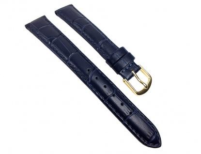 Guinea XL Uhrenarmband Kalbsleder Band Blau 22142G