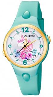 Calypso Kinderuhr analog Quarz Kunststoff grün K5783/4