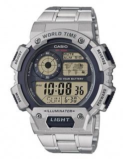 Casio Collection AE-1400WHD-1AVEF digital Uhr mit Automatischer Kalender und Edelstahlarmband