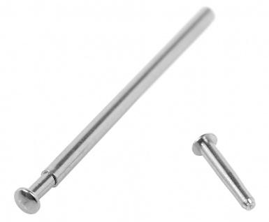 Calypso 1 x Nietstift zum Einpressen Edelstahl silbern K5157 K5158 K5160