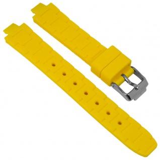 Jacques Lemans Uhrenarmband Silikon Band gelb für Modell Milano 1-1709
