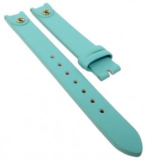 s.Oliver Uhrenarmband Leder Band 12mm blau mit Nieten SO-2888-LQ