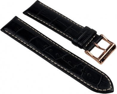 Festina Uhrenarmband Leder Band 21mm schwarz in Kroko-Optik für F16277/3, F16277/6, F16353/3, F16353/6