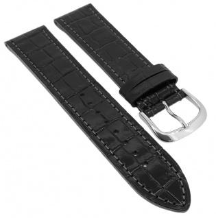Junghans Ersatzband 22mm Leder Uhrenarmband schwarz Kroko 016/4354 016/4350 925/4350