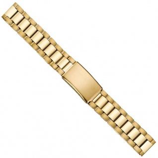 Uhrenarmband Edelstahl Band 18mm PVD-Gelbgold 21220