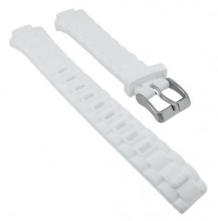 Calypso Ersatzband Kunststoff weiß Dornschließe silbern K5700 K5700/1