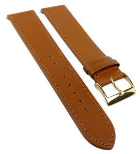 Junghans Max Bill Automatic 20mm | Ersatzband aus Leder in braun | 027/7700 027/7800
