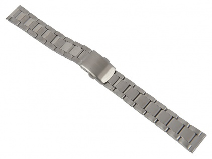 Minott Uhrenarmband Edelstahl Band Silberfarben matt/hochglanz 26865