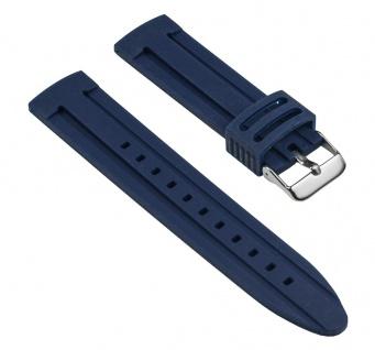 Minott Uhrenarmband Silikon Band Blau glatt 25538S