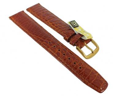 Graf Manufaktur Bahamas XL Ersatzband echt Krokodil Leder braun 793.2.22 - 27569